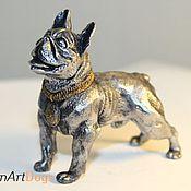 Для дома и интерьера ручной работы. Ярмарка Мастеров - ручная работа Французский бульдог   - статуэтка (оловянная фигурка собаки). Handmade.