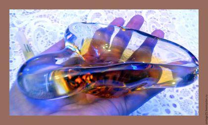 Винтажные предметы интерьера. Ярмарка Мастеров - ручная работа. Купить пепельница винтажная Муранское стекло. Handmade. Комбинированный, мурано