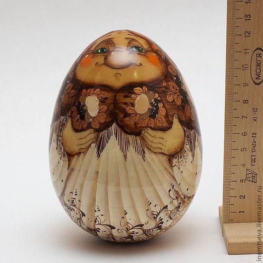 """Сувениры ручной работы. Ярмарка Мастеров - ручная работа. Купить Бабушка из """"Курочки рябы"""". Handmade. Коричневый, лаковая миниатюра, яйцо"""