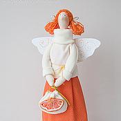 Куклы и игрушки ручной работы. Ярмарка Мастеров - ручная работа Тильда Мандариновая фея. Handmade.
