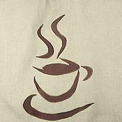 """Для дома и интерьера ручной работы. Ярмарка Мастеров - ручная работа Шторы """"Утренний кофе"""". Handmade."""