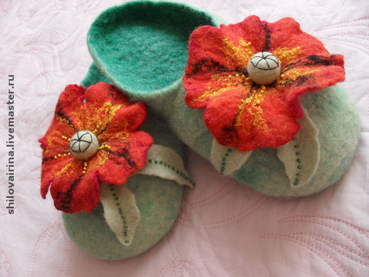 Обувь ручной работы. Ярмарка Мастеров - ручная работа. Купить Тапочки. Handmade. Тапочки, домашняя обувь, подарок на 8 марта