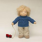 Куклы и игрушки handmade. Livemaster - original item Waldorf doll-boy of three, 31 cm. Handmade.