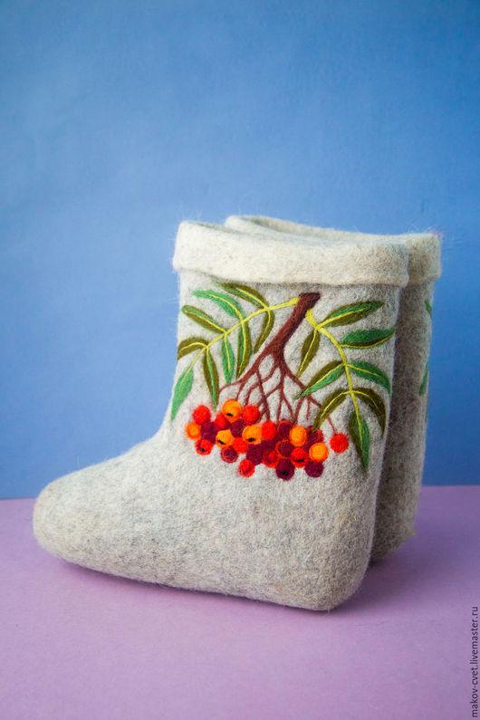 """Обувь ручной работы. Ярмарка Мастеров - ручная работа. Купить Валенки """"Рябинки"""". Handmade. Валенки, валенки для женщины, подарок, ягоды"""