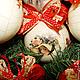 Новый год 2017 ручной работы. Заказать елочные шары Прекрасные Дамы. Декупаж. Tatiana (missmarple). Ярмарка Мастеров. Елочные шары