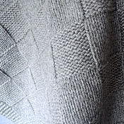 Для дома и интерьера ручной работы. Ярмарка Мастеров - ручная работа Детский вязаный плед с кашемиром серый. Handmade.