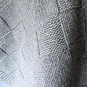 Для дома и интерьера handmade. Livemaster - original item Infantil tejida de la tela escocesa con kashemirom gris. Handmade.