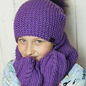 """Вязаный комплект """"Purple"""""""