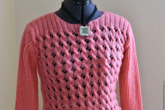 """Кофты и свитера ручной работы. Ярмарка Мастеров - ручная работа. Купить Нежнейший пуловер """"Малиновый зефир"""". Handmade. Розовый, мохер"""