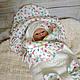 """Для новорожденных, ручной работы. Ярмарка Мастеров - ручная работа. Купить Комплект на выписку """"Мой цветочек"""". Handmade. Одеяло, чепчик"""