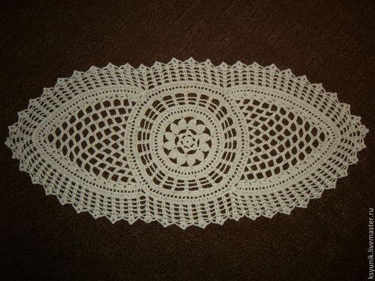 Текстиль, ковры ручной работы. Ярмарка Мастеров - ручная работа. Купить Салфетка вязаная № 033. Handmade. Белый