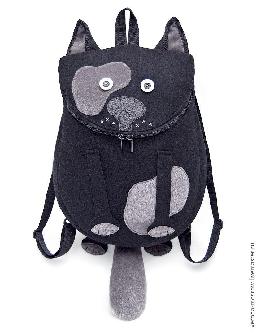 Купить рюкзак в в виде чёрного кота интернет магазин рюкзак копатыч