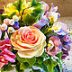 Интерьерные композиции ручной работы. Яркий интерьерный букет из полимерной глины. Floral Gift. Ярмарка Мастеров. Цветы из полимерной глины