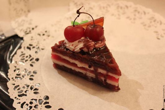 """Мыло ручной работы. Ярмарка Мастеров - ручная работа. Купить Мыло-торт """"Вишня в шоколаде"""". Handmade. Вишневый цвет"""