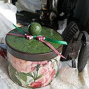 """Для дома и интерьера ручной работы. Ярмарка Мастеров - ручная работа шкатулка""""Чайная роза"""". Handmade."""