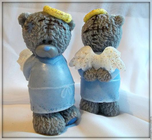 """Мыло ручной работы. Ярмарка Мастеров - ручная работа. Купить Мыло ручной работы """"Мишка Тедди ангел"""". Handmade. Серый"""