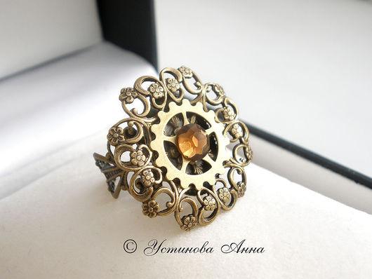 """Стимпанк ручной работы. Ярмарка Мастеров - ручная работа. Купить Кольцо, перстень в стиле стимпанк :""""Время Весны..."""" Steampunk. Handmade."""