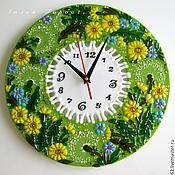 Для дома и интерьера handmade. Livemaster - original item fusing, glass watch from Dandelions. Handmade.
