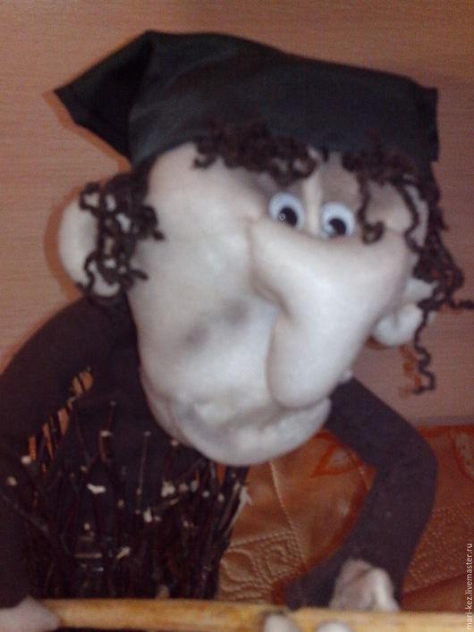 Народные куклы ручной работы. Ярмарка Мастеров - ручная работа. Купить Баба Яга в ступе. Handmade. Кукла, коричневый, синтепон