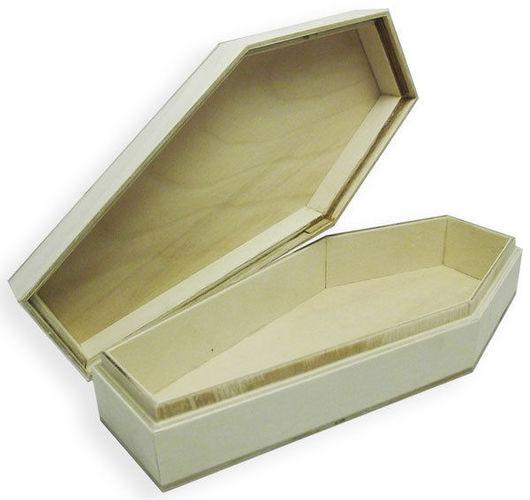 Подарочная упаковка ручной работы. Ярмарка Мастеров - ручная работа. Купить Шкатулка гробик из фанеры. Handmade. Бежевый, хеллоуин, гробик
