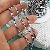 Материалы для творчества handmade. Livemaster - original item 1 m Chain 4x3x0.8. 5633 mm steel (). Handmade.