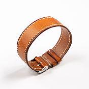 Украшения handmade. Livemaster - original item Red Solid Genuine Leather strap. Handmade.