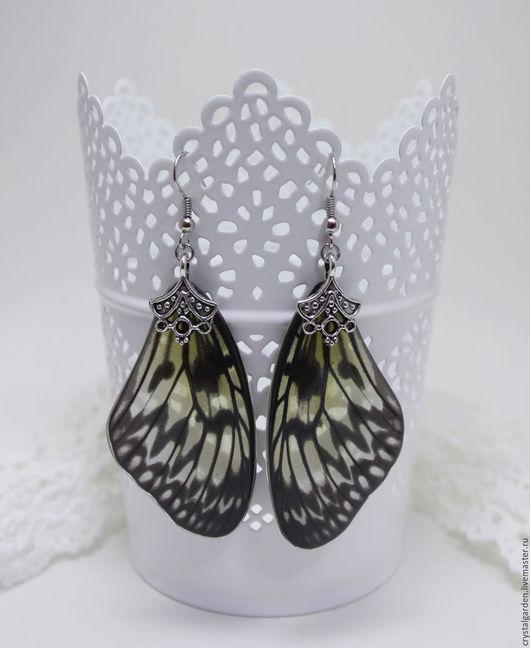 Комплекты украшений ручной работы. Ярмарка Мастеров - ручная работа. Купить Серьги из эпоксидной смолы с крыльями бабочки. Handmade.