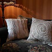 """Для дома и интерьера ручной работы. Ярмарка Мастеров - ручная работа Диванные подушки """"Эко"""" валянные комплект. Handmade."""
