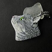 Украшения ручной работы. Ярмарка Мастеров - ручная работа Кулон Серый кот (коты, кошки, котята). Handmade.