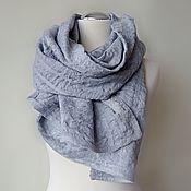 Аксессуары handmade. Livemaster - original item Gray tippet London felted wool and viscose. Handmade.