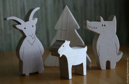 """Развивающие игрушки ручной работы. Ярмарка Мастеров - ручная работа. Купить Развивающие игрушки сказки. """"Волк и семеро козлят"""".. Handmade."""