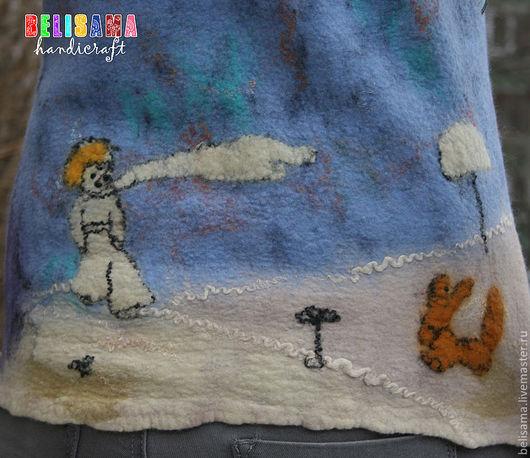 """Жилеты ручной работы. Ярмарка Мастеров - ручная работа. Купить Жилет """"Сказка. Маленький Принц"""". Handmade. Жилет, голубой"""