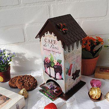 """Для дома и интерьера ручной работы. Ярмарка Мастеров - ручная работа Чайный домик """"Кофе и шоколад"""". Handmade."""