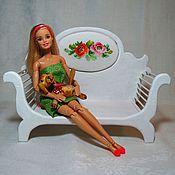 Куклы и игрушки ручной работы. Ярмарка Мастеров - ручная работа Диван для куклы с вышивкой. Handmade.