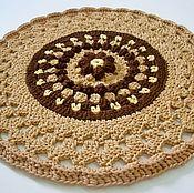 Для дома и интерьера handmade. Livemaster - original item Rug handmade knit cord Flower chestnut. Handmade.