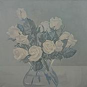 Картины и панно ручной работы. Ярмарка Мастеров - ручная работа Розовые розы))). Handmade.