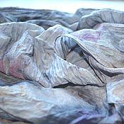 Аксессуары ручной работы. Ярмарка Мастеров - ручная работа серый шарф хлопок и шёлк купить шарф женский, подарок шарф. Handmade.