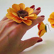 """Украшения ручной работы. Ярмарка Мастеров - ручная работа Комплект """"Солнышко в руке"""". Handmade."""