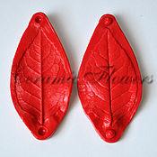 Материалы для творчества handmade. Livemaster - original item Silicone mold (Weiner) sheet roses,bilateral. Handmade.