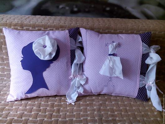 """Текстиль, ковры ручной работы. Ярмарка Мастеров - ручная работа. Купить Комплект """"Девичьи грезы"""" (подушки+подвески). Handmade. Комбинированный"""