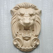 Для дома и интерьера handmade. Livemaster - original item Mural wall face of the Lion No. №3 concrete, gray, beige. Handmade.