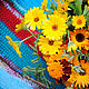 """Текстиль, ковры ручной работы. Заказать Бабушкин коврик """"Ноготки цветут"""". Просто Счастье. Ярмарка Мастеров. Коврик ручной работы"""