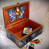 Для дома и интерьера handmade. Livemaster - original item Box of Tarot cards Magic. Handmade.