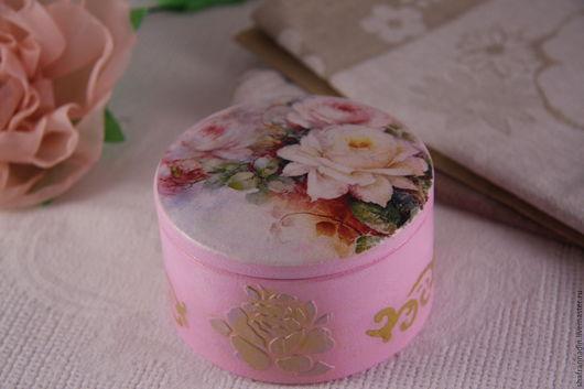 Шкатулки ручной работы. Ярмарка Мастеров - ручная работа. Купить Шкатулка для украшений. Handmade. Розовый, подарок, handmade, заготовки из дерева