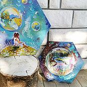 Картины и панно handmade. Livemaster - original item Your worlds: three-part paintings, oil Triptych. Handmade.