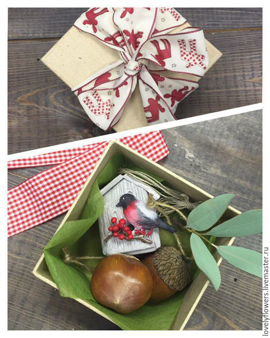 Новый год 2017 ручной работы. Ярмарка Мастеров - ручная работа. Купить Ёлочная игрушка: орешки из полимерной глины. Handmade.
