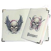 Канцелярские товары handmade. Livemaster - original item Cover for a passport, a series of
