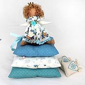 Куклы и игрушки ручной работы. Ярмарка Мастеров - ручная работа Малышка в голубом (маленькая принцесса тильда). Handmade.