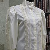 Blouses handmade. Livemaster - original item Blouse made of cotton, Victorian style. Handmade.
