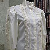 Блузки ручной работы. Ярмарка Мастеров - ручная работа Блузка из хлопка в Викторианском стиле. Handmade.